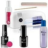 Kit de esmalte de uñas UV con lámpara Travel – Esmalte de gel – Shellac