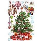 JUNMAONO Weihnachtenbaum Türaufkleber/Fenster/Glas Dekoration/Wand Plakat/PVC Wandbild/Dekor Vinyl Abziehbild/Tapete/Zeitungs-Wand/Wandbild Aufkleber/Wand Poster/Wandgemälde