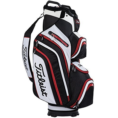 Titleist Deluxe Cart Bag 2016 Black/White/Red by Titleist -