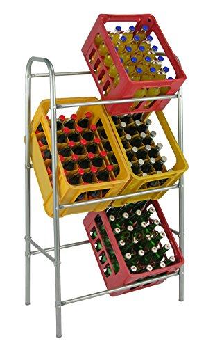 Preisvergleich Produktbild Flaschenkastenständer 6 Kästen Kastenständer Getränke-Kästen Ständer Getränkelagerung B/T/H 65x34x114 cm