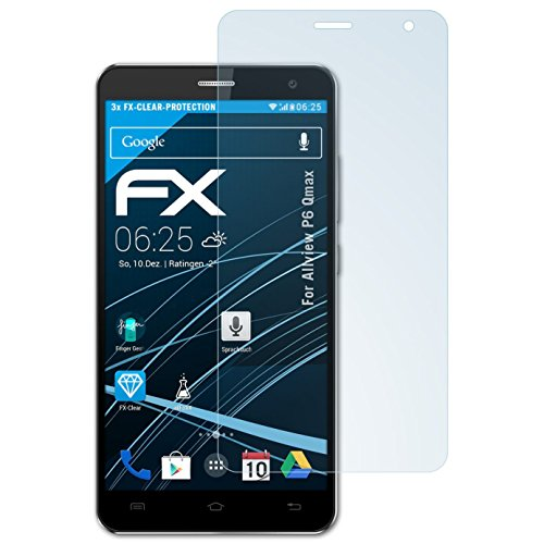 atFolix Schutzfolie kompatibel mit Allview P6 Qmax Folie, ultraklare FX Bildschirmschutzfolie (3X)