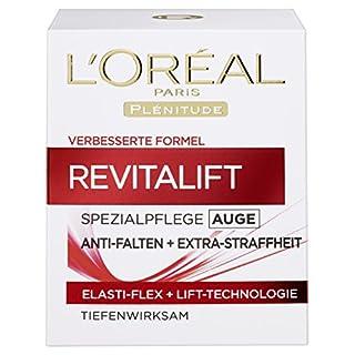 L'Oreal Paris Revitalift Augenpflege Anti-Falten, mildert Augenfalten und versorgt die Haut mit Feuchtigkeit, 15 ml