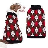 SCIROKKO - Maglione Invernale per Cani con Motivo a Rombi