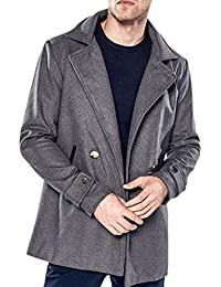Cappotto Misto Lana Doppiopetto Invernale da Manica Uomo Unico Capispalla  Cappotto Lunga Risvolto Tempo Libero Moda Lungo Paragrafo… c7e29d8a62d