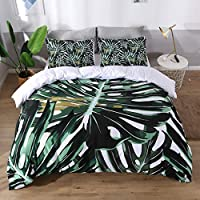 UniTendo 3 Pieces Set 100% Cotton 200 Threads Duvet Cover and Pillowcases Reversible Duvet Cover Set King 590219