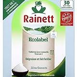 rainett Tablets ECOLOGIQUE Geschirrspüler All in 1bicarbonatehydro X30Ecolabel–(Preis pro Einheit) Schneller und gepflegte