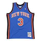 Mitchell&Ness M&N Maglia retrò da Uomo Swingman NBA con Adesivo da 7kmh N.Y. Knicks - S. Marbury XL
