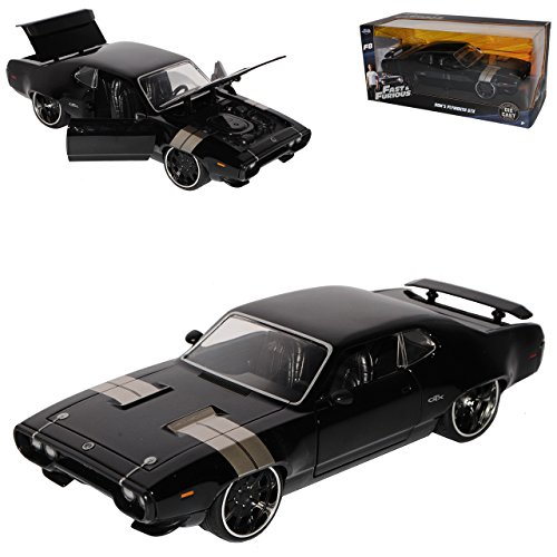 Jada Plymouth GTX Fast 8 Dom Dominik Toretto The Fast and The Furious 1/24 Modell Auto