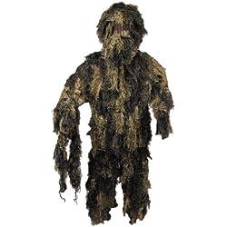 MFH Ghillie Suit Woodland - Traje de camuflaje (chaqueta, pantalones, gorro) multicolor woodland Talla:M/L
