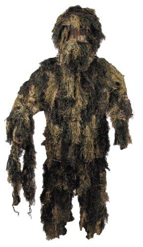 MFH Tarnanzug Ghillie Suit Jacke, Hose und Hut, Woodland, XL/XXL, 07703T