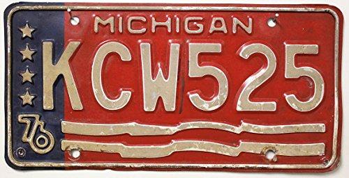 USA Nummernschild Michigan 76 ~ US Kennzeichen License Plate ~ Blechschild