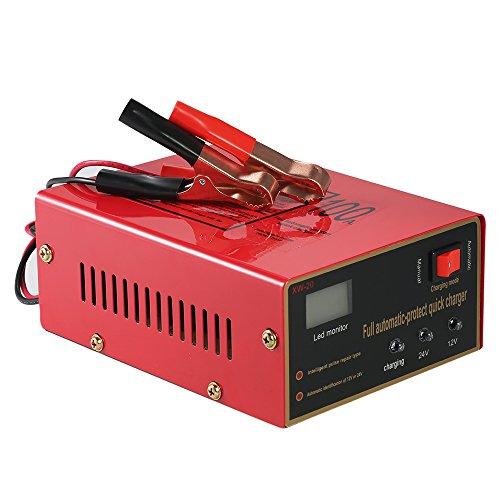NOBGP Caricabatteria per autoveicoli, manutentore Automatico per Batteria Intelligente 12V / 24V, Riparazione Intelligente dell'impulso per Batteria di Auto, Camion, motocicli, Veicoli agrico
