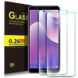 KuGi Huawei Y7 2018 Schutzfolie, 9H Panzerglas Hartglas Glas Bildschirm Schutzfolie [Blasenfrei] [HD Ultra] [Anti-Kratzer] Bildschirmschutz Für Huawei Y7 2018 / Prime 2018 Smartphone. Klar [2 Pack]