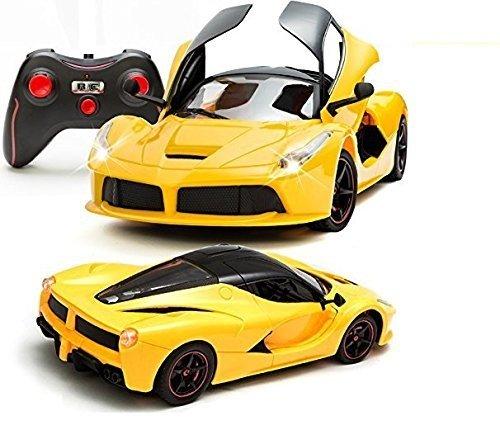 FunBlastâ?¢ 1:16 Super car, Remote controlled Ferrari Car with Door Opening Function, RC Ferrari Car for Kids (Yellow)