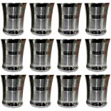 Dynore Stainless Steel Drinking Glass Set, Set Of 12, Silver
