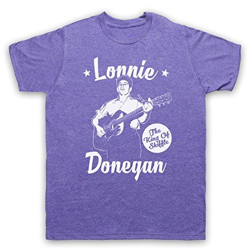 Lonnie Donegan The King Of Skiffle Herren T-Shirt Jahrgang Violett