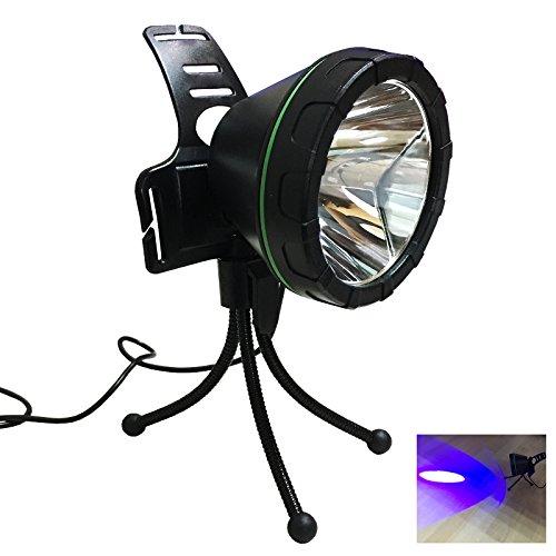 Kebaina La luz de pesca con trípode,LED Spotlight, no recargable,azul