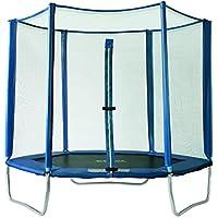 Preisvergleich für SixBros. SixJump 2,20 - 3,65 M Polygon Gartentrampolin Blau Trampolin - Sicherheitsnetz
