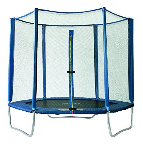 SixBros. SixJump 2,20 M Trampolín Cama elástica de jardín polígono Trampolín azul - Red de seguridad - PB220/2049