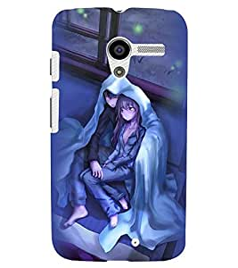 Printvisa Couple Wrapped Upon A Cold Evening Back Case Cover for Motorola Moto X XT1058::Motorola Moto X (1st Gen)