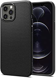 Spigen Liquid Air designed for iPhone 12 case and iPhone 12 PRO case/cover (6.1 inch) - Matte Black