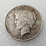 DDTing Best Morgan Silver Dollars-1969 - Moneta Americana in Argento da Collezione - Grande Moneta Americana Non circolata - USA Old Original Pre Morgan Dollar goodservice