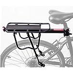 COMINGFIT 50kg Capacity Aluminum Alloy Bicycle Rear Rack Adjustable Pannier Bike Luggage Cargo Rack Bicycle Carrier Racks