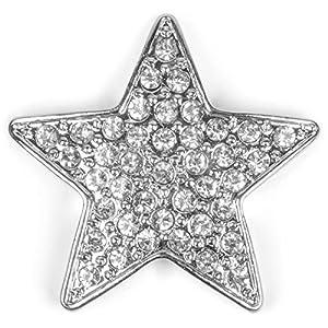 styleBREAKER Magnet Schmuck Anhänger Stern Design mit Strass für Kleidung, Schals, Tücher und Ponchos, Brosche, Damen 05050043