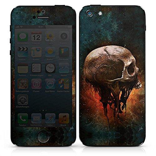 Apple iPhone 5 Folie Skin Sticker aus Vinyl-Folie Aufkleber Skull Halloween - 5 Iphone Halloween-thema