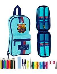 Barcelona FC - Plumier forma de mochila con 4 portatodos llenos (Safta 411778747)