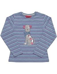 Salt & Pepper Longsleeve Cats & Dogs Stripe, T-Shirt Fille