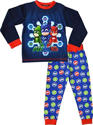 PJ Masks Pyjamas Jungen Short Pyjama Set 100% Baumwolle PJs Nachtwäsche (2-3 Jahre, Blau) (Pj Shorts Baumwolle)