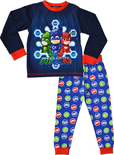 PJ Masks Pyjamas Jungen Short Pyjama Set 100% Baumwolle PJs Nachtwäsche (3-4 Jahre, Blau) (Set Baumwolle Pj)