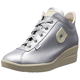 Agile By Rucoline Fashion-Sneakers Womens Silver 2.5 UK