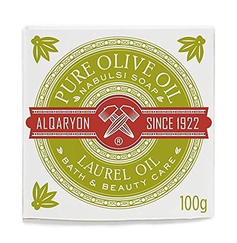 Alqaryon Laurel Oil & Olive Oil Bar Soap - Olivenöl Seife, Bath & Body Care, Pack of 4 Bars 100g (Bath Soap Bar)