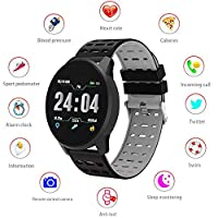 Heart Rate Fitness Tracker, Layopo Waterproof Bluetooth Unlocked Smart Watch Touch Screen Pedometer Sports Wrist Watch for Men Women Kids Compatible with Android IOS Phone