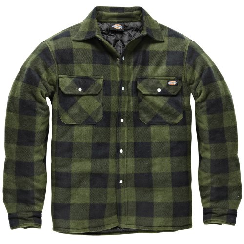 DICKIES Holzfällerhemd Thermohemd PORTLAND (XXL, grün/schwarz) Dickies Fleece Pullover