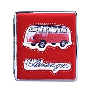 VW ZIGARETTENETUI Volkswagen Samba Samt 20 Zigaretten Etui Zigarettenbox Case 06 (Rot)