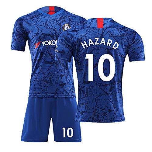 ZHENGBAOEuropäische Union Cup Neue Chelsea Fußball Trikot19-20 Hause Eden Hazard10# Fußballbekleidung Anzug Männlich Erwachsen Kinder Fans Training Team Kleidung Blau 16-2XL