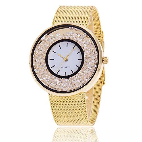Uhren DamenArmbanduhr Mode Frauen schöne Legierungs beiläufige Uhr Luxuriös Analoge Quarz Uhr Klassisch Uhr Diamond Uhren Armbanduhr Quarz Uhr Uhrenarmband Watch,YpingLonk