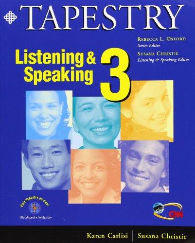 Tapestry. Listening & Speaking 3 + 1 Cassette por Susana Carlisi Karen/christie