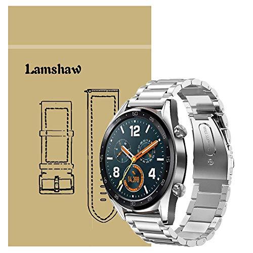 Ceston Metallo Acciaio Classica Cinturino per Smartwatch Huawei Watch GT (Argento)
