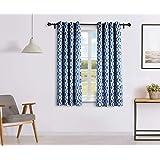 Solimo Celesta Window Curtain, 5 feet - Set of 2 (Merlin Blue)