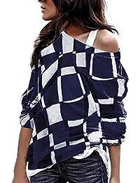 Modaworld Top Casual T-Shirt da Donna Magliette Women s Plus Size Manica  Lunga Color Taglie df7f341dbef