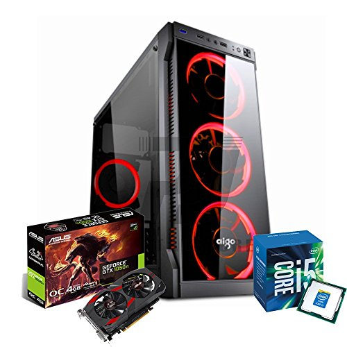 PC DESKTOP GAMING COMPLETO INTEL i5-7400 3.5GHZ / ASUS GTX 1050 CERBERUS GAMING 4GB DDR5/ RAM DDR4 8GB/ SSD 120GB + HD 1TB / WIFI - WINDOWS 10