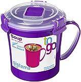 Sistema To Go Microwave Soup Mug - 656 ml, Assorted Colours