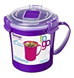 Sistema To Go Microwave Soup Mug - 656 ml, Assorted Colours