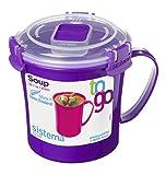 Sistema Klip Si Singola Microonde Soup To Go Tazza, 656ml, Colori Assortiti