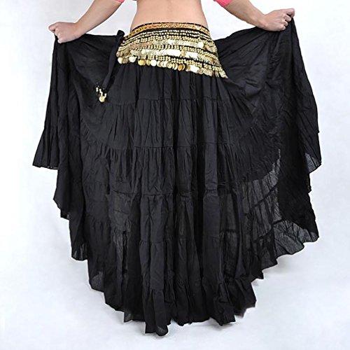 YiJee Danza del Ventre Boemia Stile Lunga Donne Halloween Costume Nero