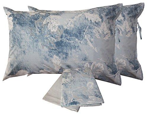 Copripiumino danae azzurromatrimoniale zucchi- tessuto percalle 70 fili di cotone
